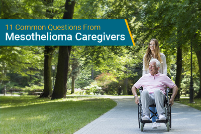 mesothelioma caregiver and patient on walk