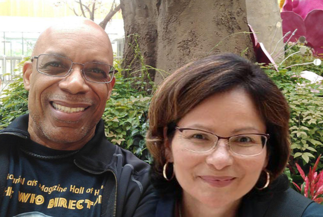 Mesothelioma survivor Yvette King and her husband