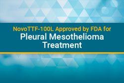 Novo-TTF-100L for mesothelioma