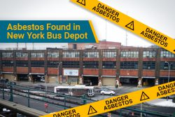 asbestos found in New York bus depot