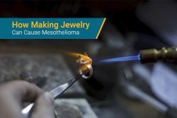 making jewelry using asbestos during soldering process