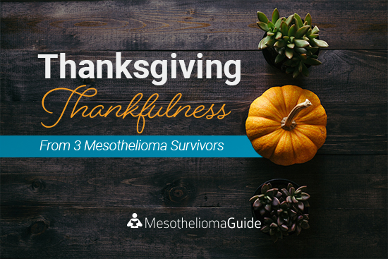 mesothelioma survivors share thankful notes for Thanksgiving