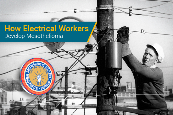 electrical worker installing cable lines