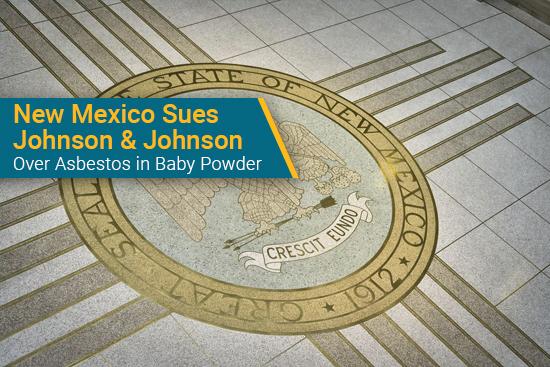 New Mexico sues Johnson & Johnson over baby powder asbestos contamination