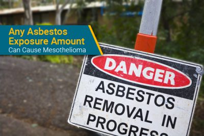 asbestos exposure removal sign