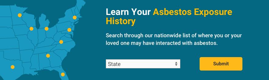 Image of asbestos exposure banner