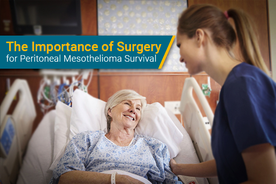 mesothelioma patient receives medical care at hospital