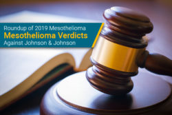 2019 Johnson & Johnson mesothelioma verdicts