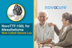 NovoTTF-100L branded Optune Lua for mesothelioma treatment