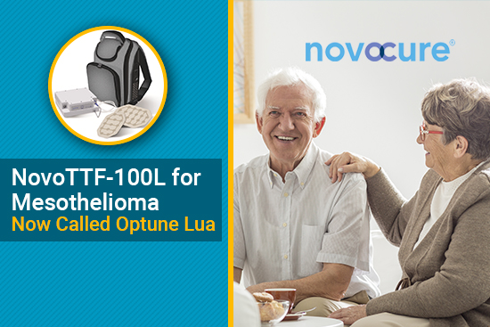 NovoTTF-100L branded Optune Lua for mesothelioma treatment
