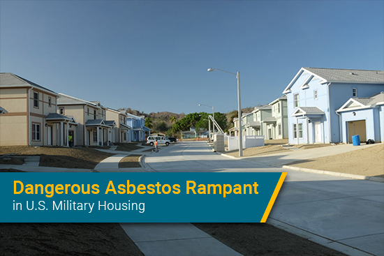 asbestos found in military family housing
