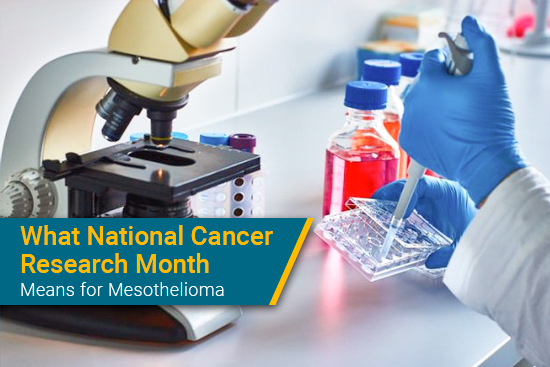 National Cancer Research Month for mesothelioma