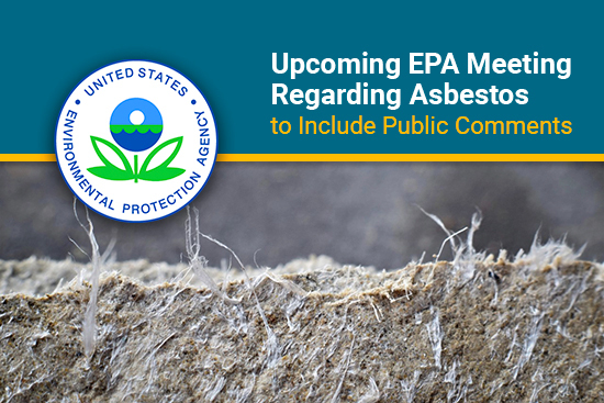 EPA meeting on draft risk evaluation of asbestos