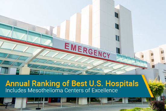 Mesothelioma hospitals on annual ranking of top hospitals in U.S.