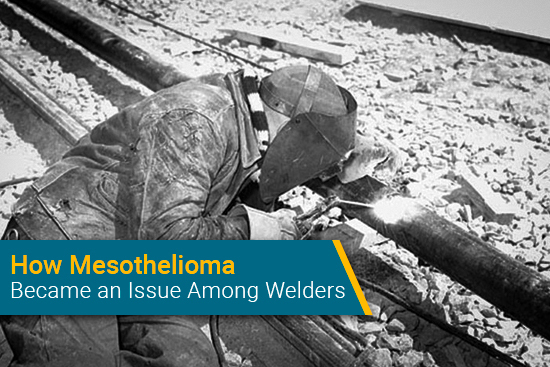 welder uses tools that may include asbestos