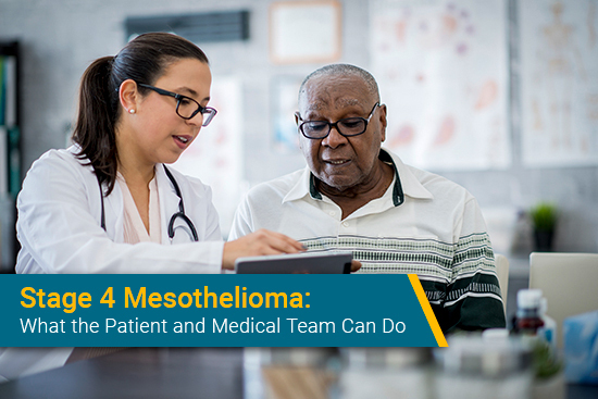 patient meets with doctor for mesothelioma checkup