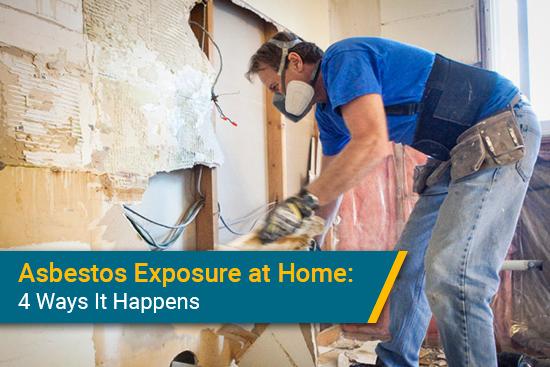 how asbestos exposure at home happens