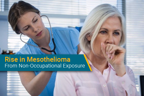 patient diagnosed with mesothelioma from secondary asbestos exposure