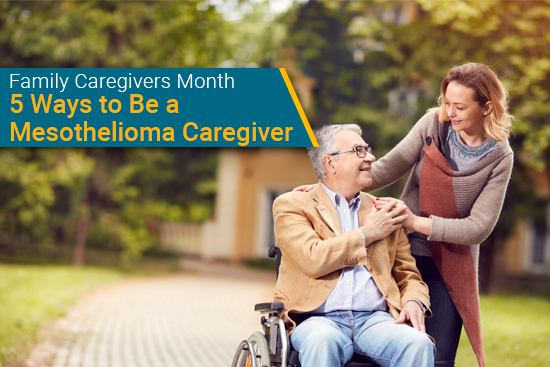 family caregiver helps person with mesothelioma