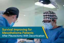 Pleurectomy with decortication improving survival from mesothelioma