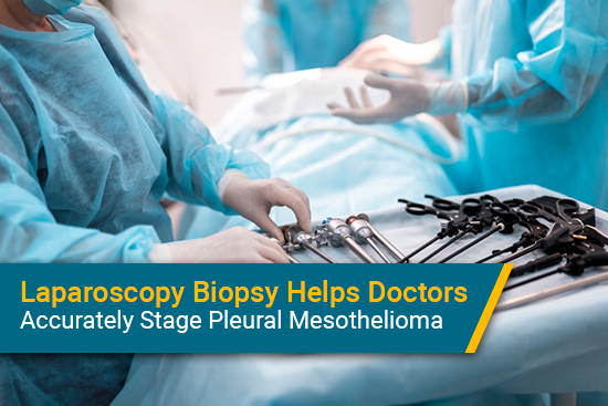 Laparoscopy used for diagnosing pleural mesothelioma