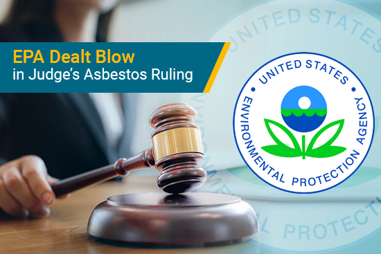 Judge rules EPA must improve asbestos data collection