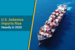 asbestos imports in 2020 for U.S.