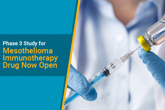 durvalumab immunotherapy for mesothelioma in phase 3 study