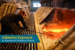 asbestos exposure in aluminum smelting plants