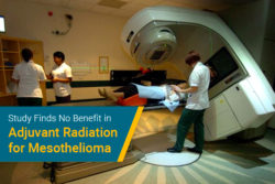 radiation therapy for mesothelioma patient