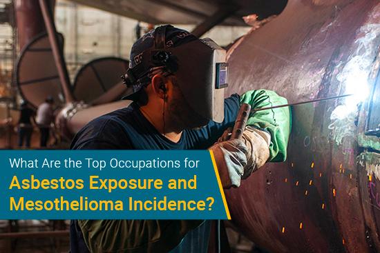 Worker with heat around asbestos
