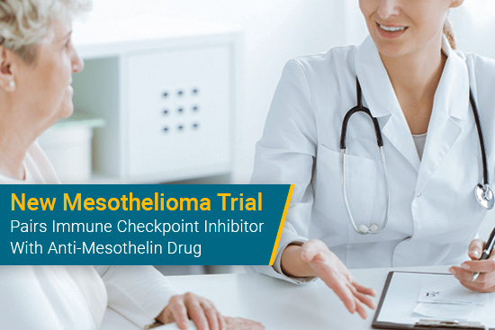 Doctor talks to patient about mesothelioma clinical trial