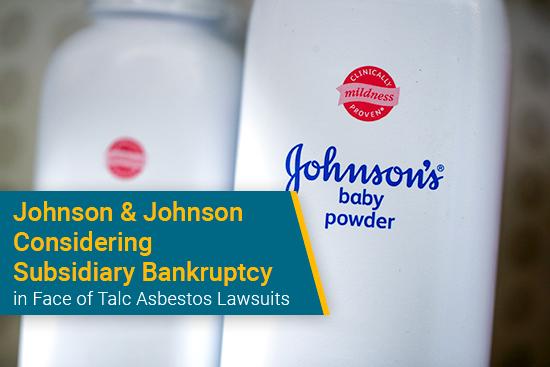 Johnson & Johnson mesothelioma bankruptcy possible