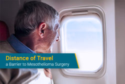 patient flying to hospital for mesothelioma surgery